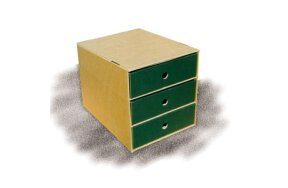 PAPER DRAWER WITH 3 DRAWERS